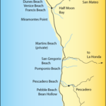 San Mateo Coast Beach Map