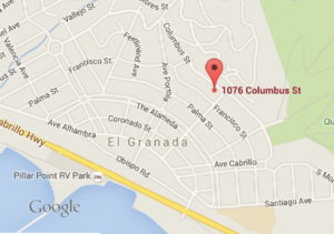 MAP TO 1076 COLUMBUS ST. EL GRANADA
